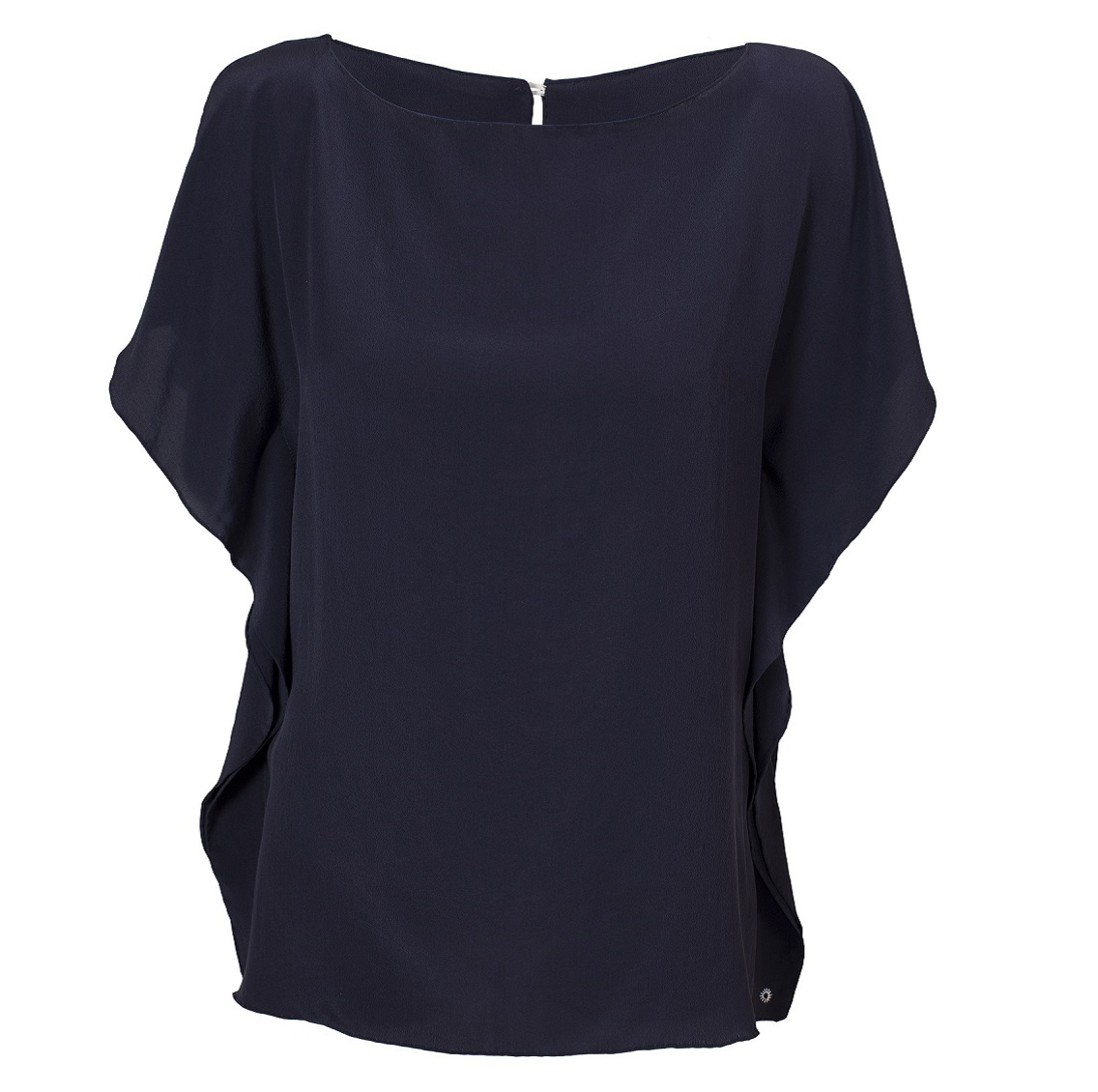 Split-sleeve Top - Navy - Front (1x1)